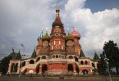 General view outside of St Basil's Cathedral ahead of the 14th IAAF World Championships at on August 6 2013 in Moscow Russia