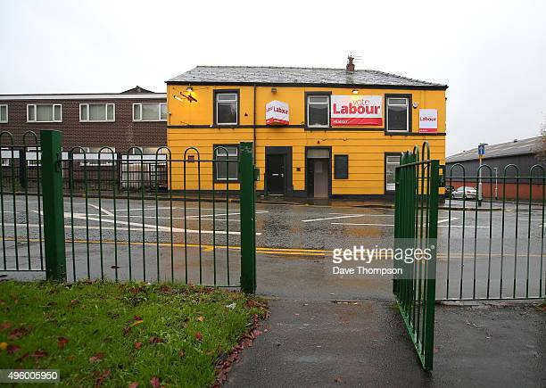 A general view outside of the Labour party campaign centre prior to the arrival of party leader Jeremy Corbyn Deputy Leader Tom Watson and Labour...