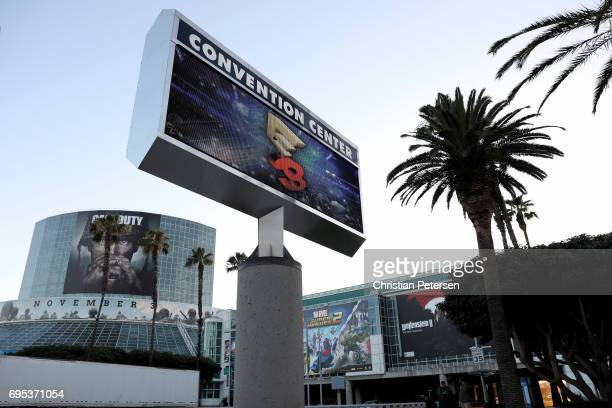 General view outside of the Los Angeles Convention Center before the start of the Electronic Entertainment Expo E3 on June 12 2017 in Los Angeles...
