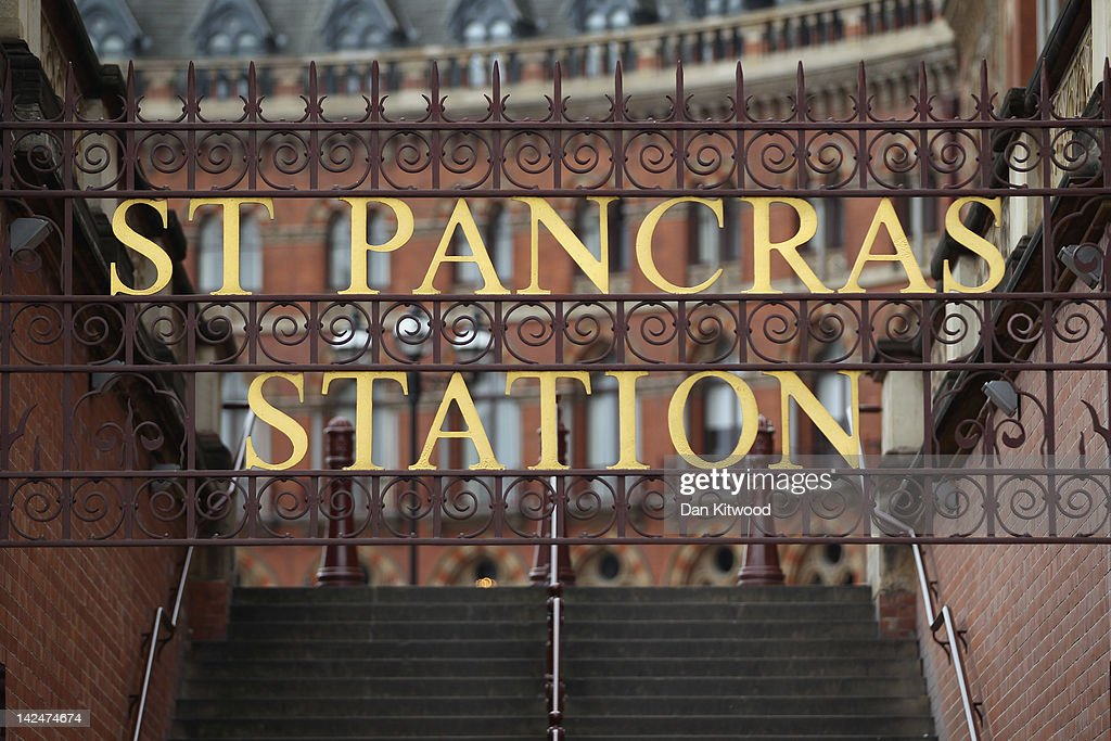 A general view outside St Pancras Station on April 5 2012 in London England