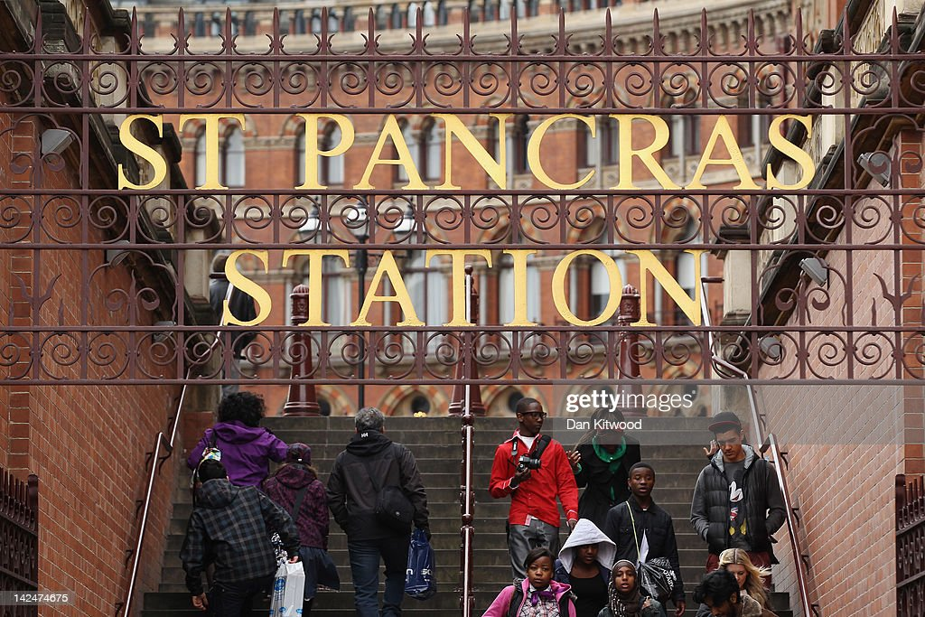 A general view outside St Pancras Station, on April 5, 2012 in London, England.