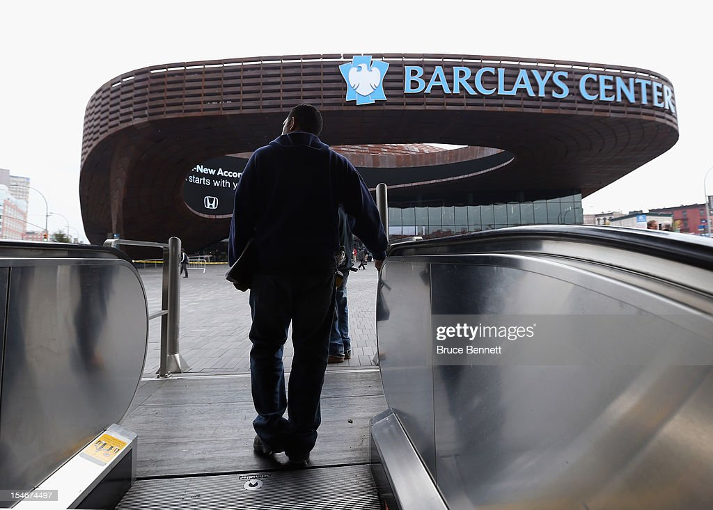 A general view outside the Barclays Center on the day the New York Islanders announced their relocation to Brooklyn in 2015 at the Barclays Center on October 24, 2012 in the Brooklyn borough of New York City.