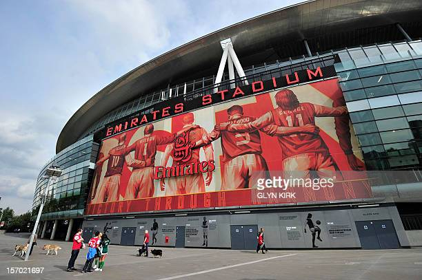General view outside the Emirates Stadium before the English Premier League football match between Arsenal and Bolton Wanderers at The Emirates...