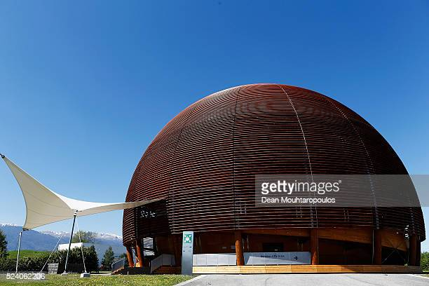 A general view outside The Globe of Science and Innovation at The European Organization for Nuclear Research commonly know as CERN on April 19 2016...