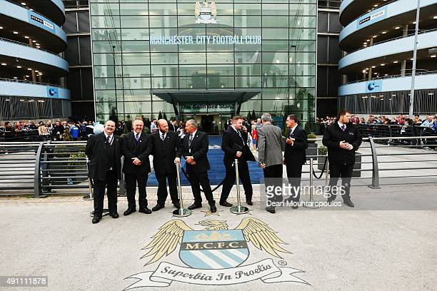 General view outside the ground before the Barclays Premier League match between Manchester City and Newcastle United at Etihad Stadium on October 3...