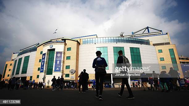 General view outside the ground before the Barclays Premier League match between Chelsea and Southampton at Stamford Bridge on October 3 2015 in...