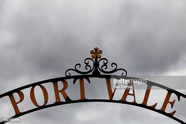 A general view outside the ground before the Sky Bet League One match between Port Vale and Bristol City at Vale Park on October 05 2013 in...