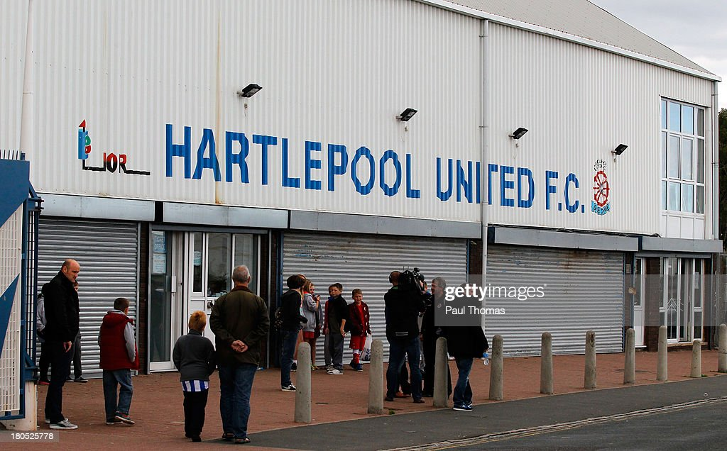 A general view outside the ground before the Sky Bet League Two match between Hartlepool United and Accrington Stanley at Victoria Park on September...