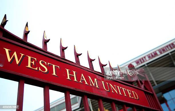 A general view outside the ground prior to the Barclays Premier League match between West Ham United and Arsenal at Boleyn Ground on December 26 2013...