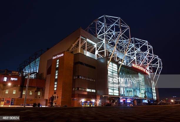 A general view outside the ground prior to the Barclays Premier League match between Manchester United and Burnley at Old Trafford on February 11...