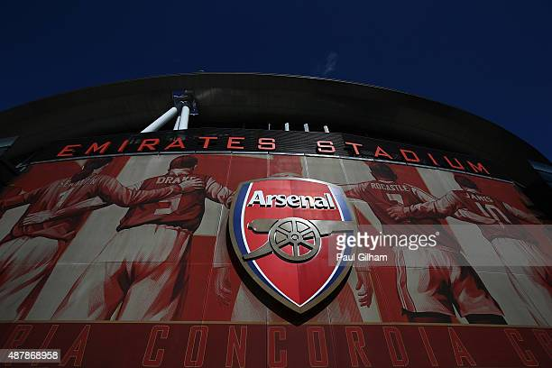 A general view outside the ground prior to the Barclays Premier League match between Arsenal and Stoke City at the Emirates Stadium on September 12...