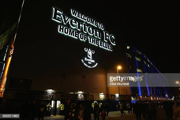 A general view outside the ground prior to the Barclays Premier League match between Everton and Crystal Palace at Goodison Park on December 7 2015...