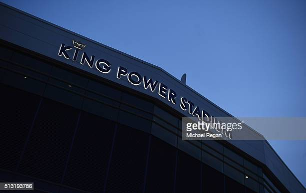 A general view outside the ground prior to the Barclays Premier League match between Leicester City and West Bromwich Albion at The King Power...