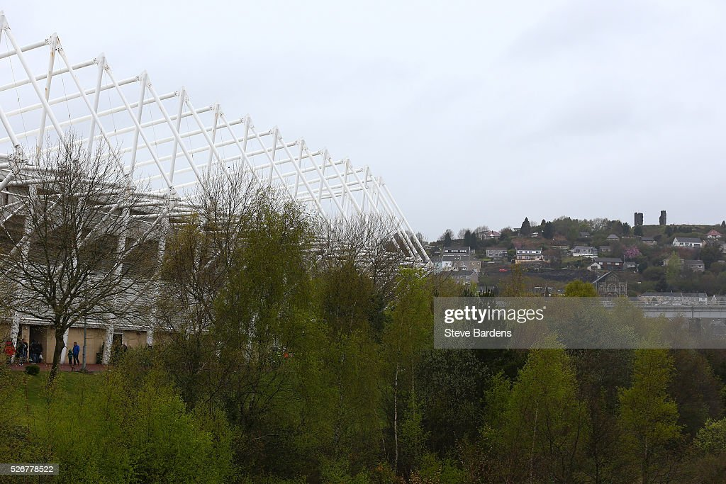 A general view outside the ground prior to the Barclays Premier League match between Swansea City and Liverpool at The Liberty Stadium on May 1, 2016 in Swansea, Wales.