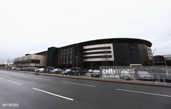 A general view outside the ground prior to the Emirates FA Cup Fourth Round match between Milton Keynes Dons and Chelsea at Stadium mk on January 31...