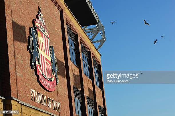 A general view outside the ground prior to the FA Cup Fourth Round match between Sunderland and Fulham at Stadium of Light on January 24 2015 in...