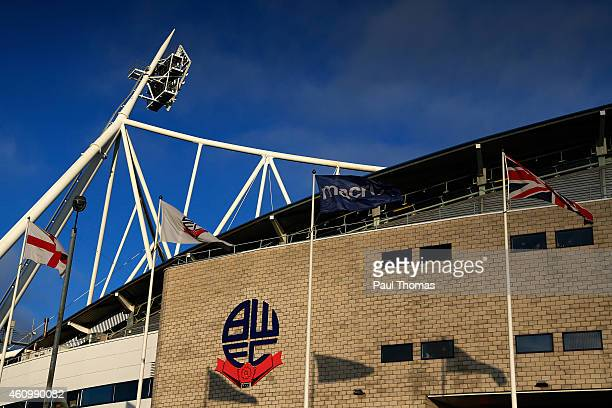 A general view outside the ground prior to the FA Cup Third Round match between Bolton Wanderers and Wigan Athletic at the Macron Stadium on January...