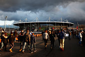 A general view outside the ground prior to the International Friendly match between France and Brazil at the Stade de France on March 26 2015 in...