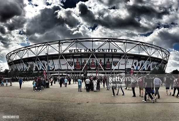 A general view outside the ground prior to the Premier League match between West Ham United and AFC Bournemouth at London Stadium on August 21 2016...