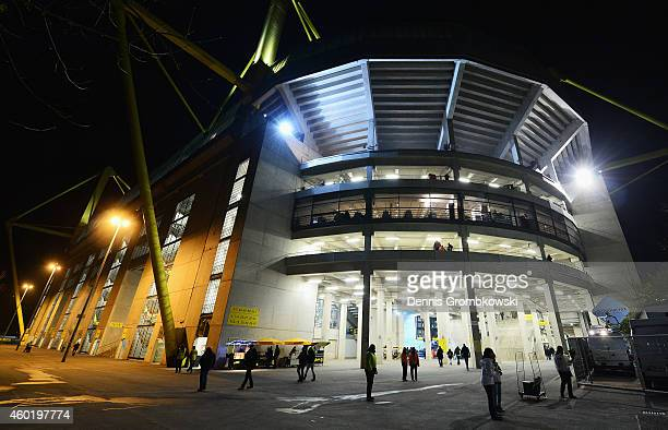 A general view outside the ground prior to the UEFA Champions League Group D match between Borussia Dortmund and RSC Anderlecht at Signal Iduna Park...