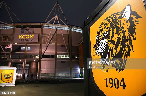 A general view outside the KCOM Stadium is seen prior to the EFL Cup SemiFinal Second Legat KCOM Stadium on January 26 2017 in Hull England