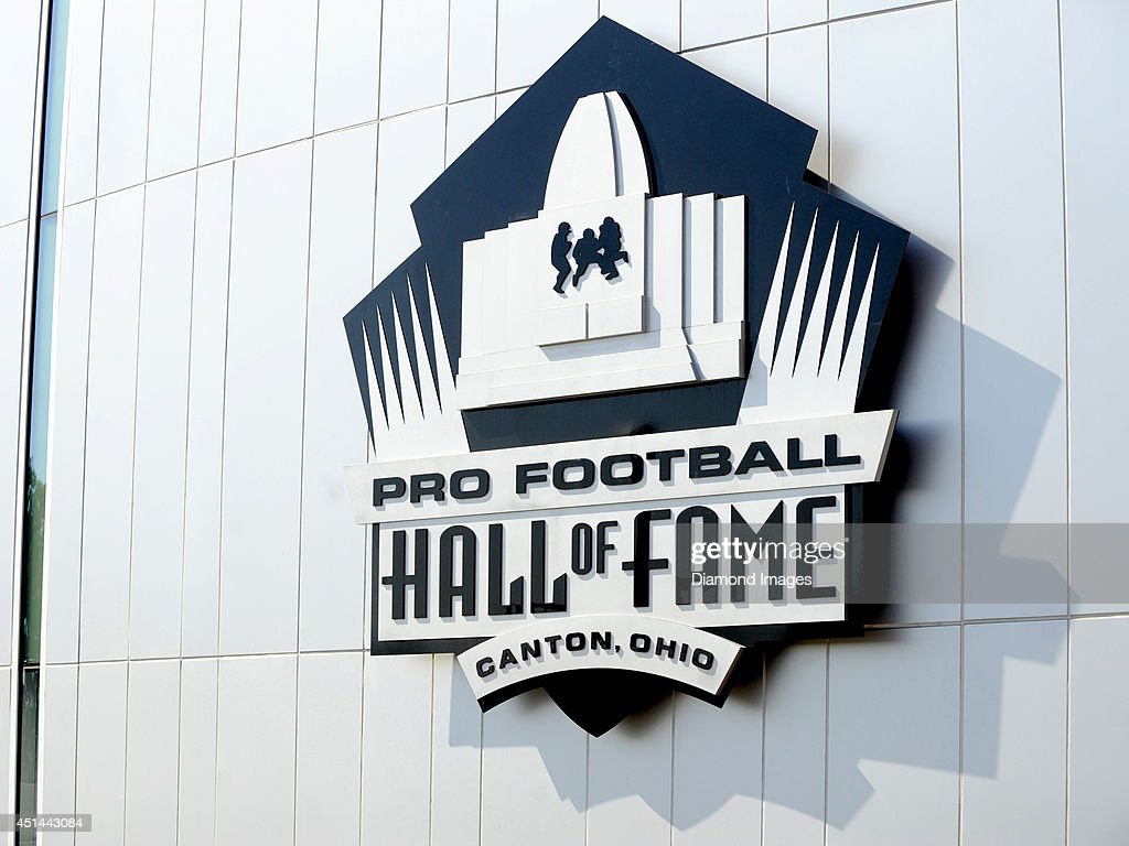 A general view outside the Pro Football Hall of Fame in Canton, Ohio on June 28, 2014.