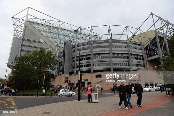 A general view outside the stadium ahead of the Barclays Premier League match between Newcastle United and Chelsea at St James' Park on November 2...
