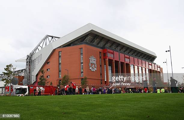 general view outside the stadium during the Premier League match between Liverpool and Hull City at Anfield on September 24 2016 in Liverpool England