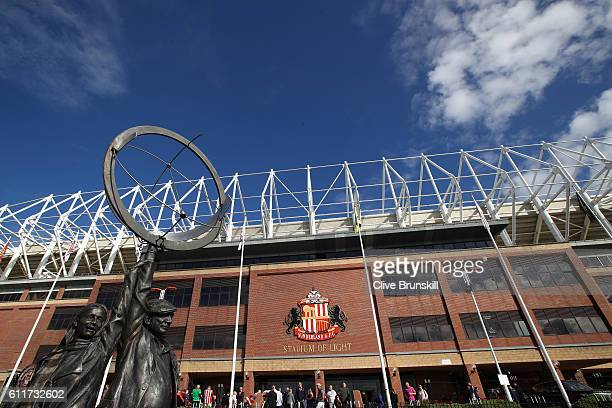 General view outside the stadium during the Premier League match between Sunderland and West Bromwich Albion at Stadium of Light on October 1 2016 in...