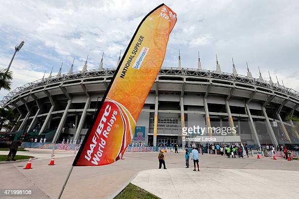 A general view outside the stadium on day one of the IAAF World Relays at Thomas Robinson Stadium on May 2 2015 in Nassau Bahamas