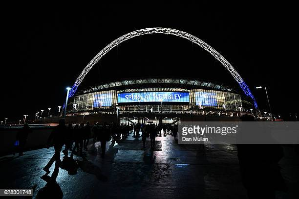 General view outside the stadium prior to kick off during the UEFA Champions League Group E match between Tottenham Hotspur FC and PFC CSKA Moskva at...