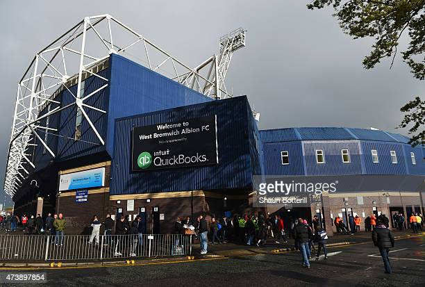A general view outside the stadium prior to the Barclays Premier League match between West Bromwich Albion and Chelsea at The Hawthorns on May 18...
