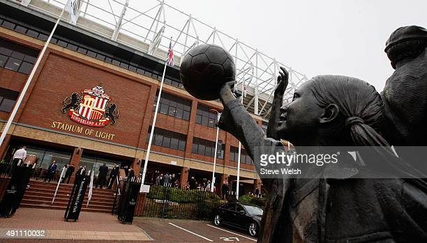 A general view outside the stadium prior to the Barclays Premier League match between Sunderland and West Ham United at the Stadium of Light in...