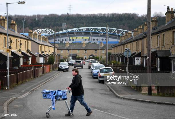 General view outside the stadium prior to The Emirates FA Cup Fifth Round match between Huddersfield Town and Manchester City at John Smith's Stadium...