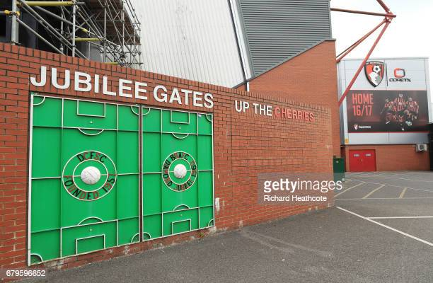 General view outside the stadium prior to the Premier League match between AFC Bournemouth and Stoke City at the Vitality Stadium on May 6 2017 in...