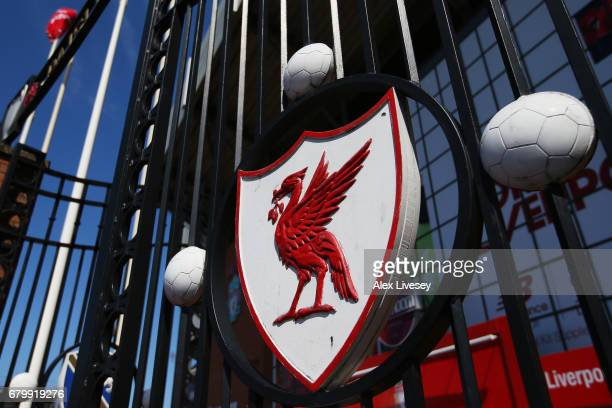 General view outside the stadium prior to the Premier League match between Liverpool and Southampton at Anfield on May 7 2017 in Liverpool England