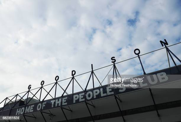 General view outside the stadium prior to the Premier League match between Everton and Watford at Goodison Park on May 12 2017 in Liverpool England