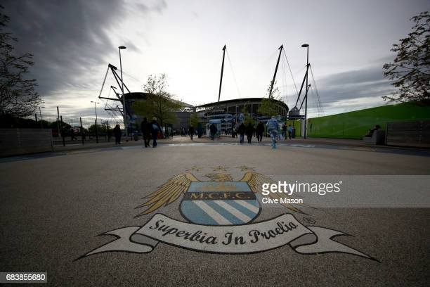 General view outside the stadium prior to the Premier League match between Manchester City and West Bromwich Albion at Etihad Stadium on May 16 2017...