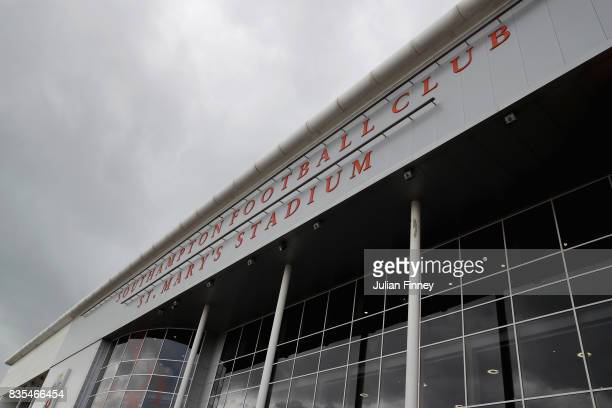 General view outside the stadium prior to the Premier League match between Southampton and West Ham United at St Mary's Stadium on August 19 2017 in...
