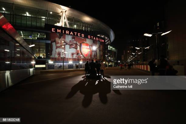 General view outside the stadium prior to the Premier League match between Arsenal and Huddersfield Town at Emirates Stadium on November 29 2017 in...