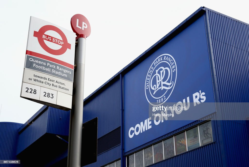 A general view outside the stadium prior to the Sky Bet Championship match between Queens Park Rangers and Wolverhampton Wanderers at Loftus Road on October 28, 2017 in London, England.