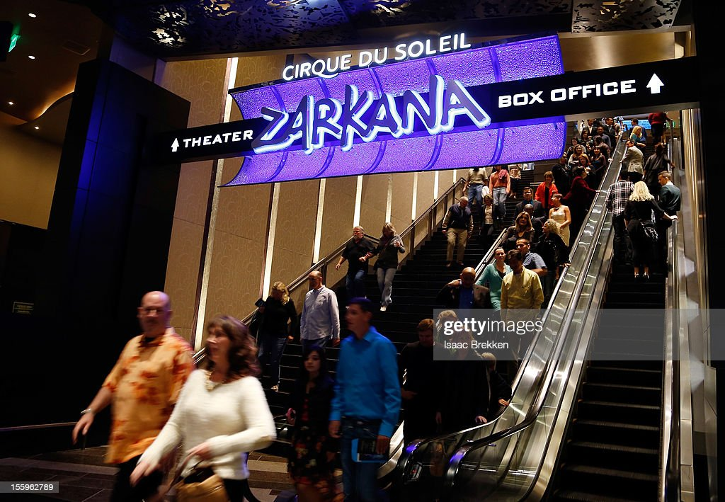 A general view outside the theater at the Las Vegas premiere of 'Zarkana by Cirque du Soleil' at the Aria Resort & Casino at CityCenter on November 9, 2012 in Las Vegas, Nevada.