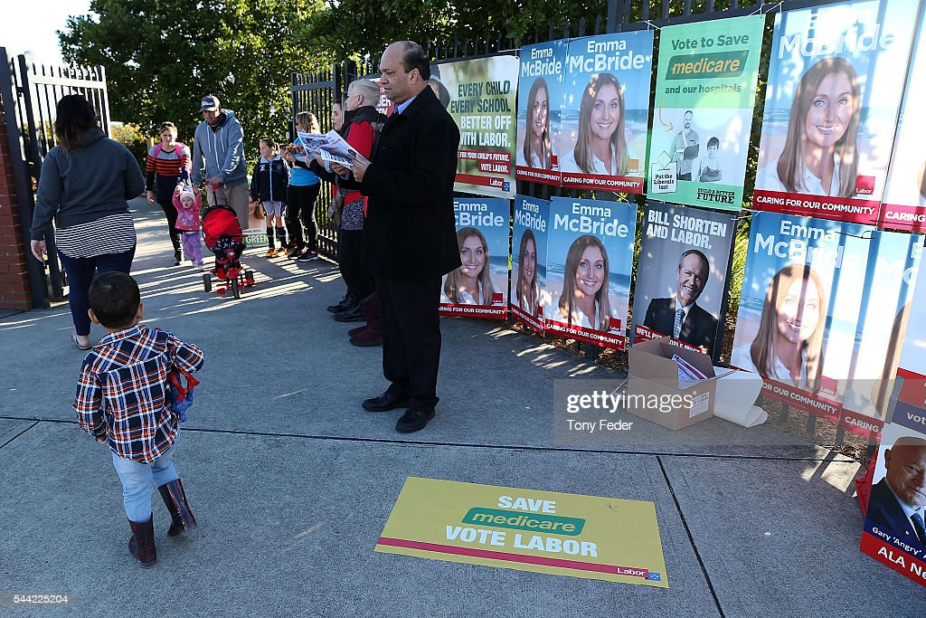 A general view outside the Woongarrah Public School in the electorate of Dobell on July 2, 2016 in Gosford, Australia. Voters head to the polls today to elect the 45th parliament of Australia.