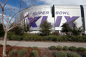 General view outside University of Phoenix Stadium on January 25 2015 in Glendale Arizona The NFL Super Bowl XLIX will be held at the University of...