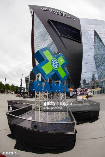 A general view outside US Bank Stadium during the X Games on July 13 2017 at US Bank Stadium in Minneapolis Minnesota