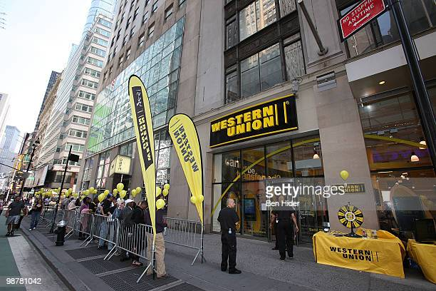 A general view outside Western Union 'Returns the Love' to Moms at Western Union Times Square on May 1 2010 in New York City