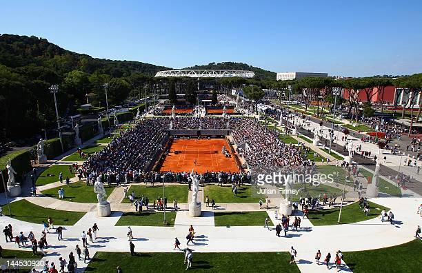 A general view over looking Foro Italico during day four of the Internazionali BNL d'Italia 2012 Tennis on May 15 2012 in Rome Italy