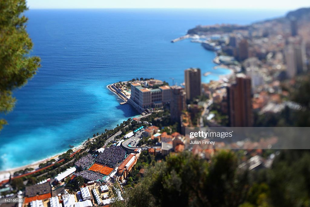 A general view over looking Monte Carlo Tennis Club during day six of the ATP Monte Carlo Masters on April 20 2012 in MonteCarlo Monaco