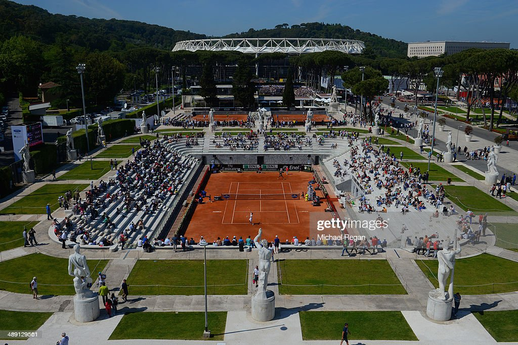 A general view over the courts during the Internazionali BNL d'Italia 2014 qualifiying on May 10, 2014 in Rome, Italy.