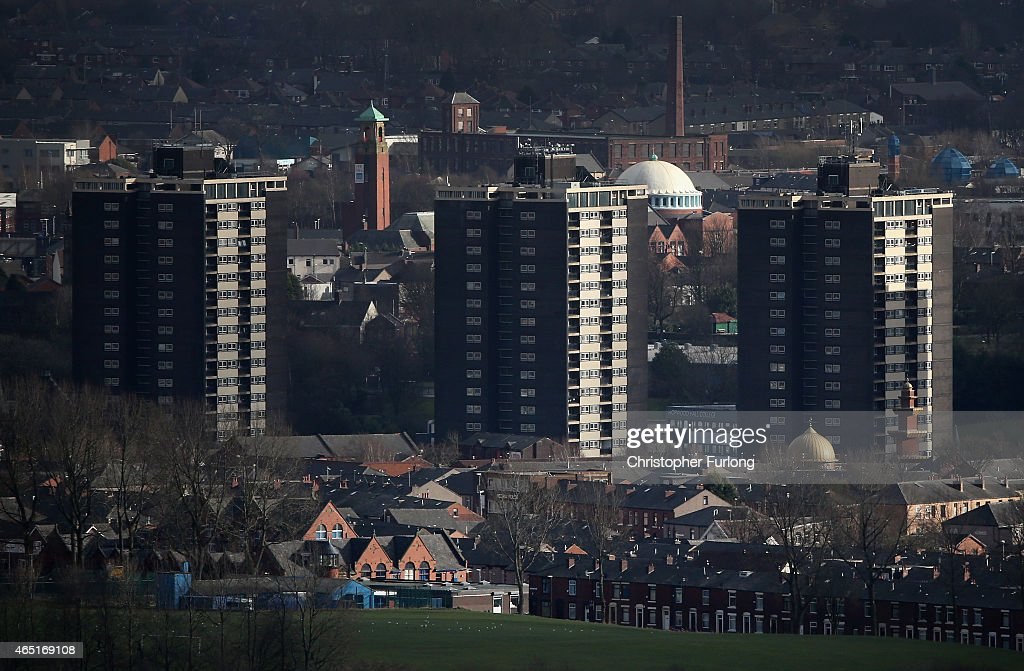 A general view over the Lancashire town of Rochdale after ten men faced alleged charges of child sexual exploitation on March 3 2015 in Rochdale...
